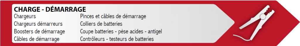 Catalogue - charge - démarrage